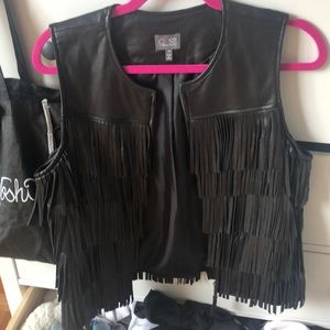 Like new cusp by Neiman Marcus black leather vest